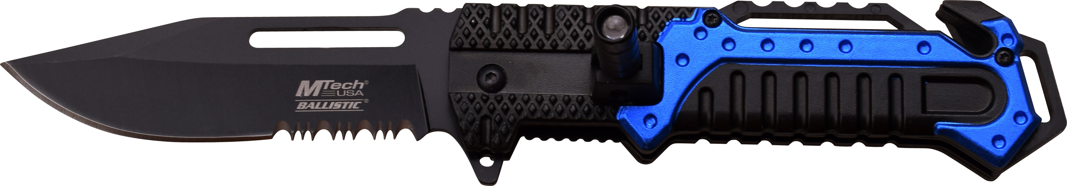 MTech Assisted Opening Stainless Steel LED Swivel Rescue Knife