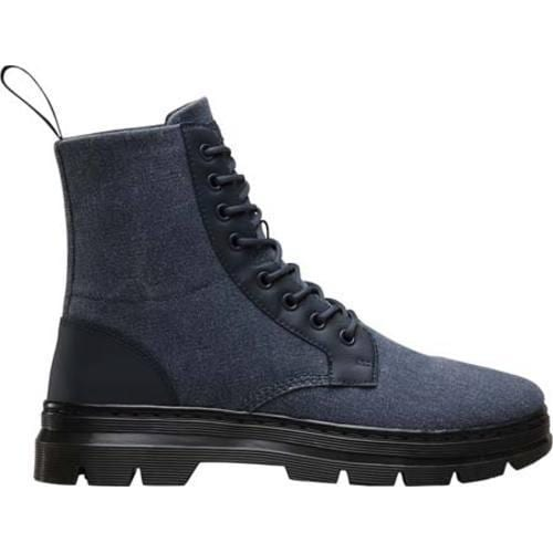 ... Dr. Martens Combs 8-Eye Boot Graphite Grey 16oz Washed Canvas/Kanga S  ...