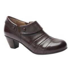 Women's Drew Ashton Heel Dark Brown Leather