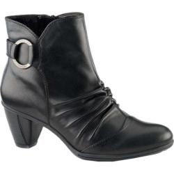 Women's Earth Topaz Ankle Bootie Black Soft Calf