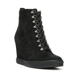 Women's Fergie Footwear Jillian High Top Wedge Black Leather
