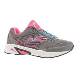 Women's Fila Inspell 3 Running Shoe Dark Silver/Knockout Pink/Biscay Bay