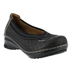 Women's L'Artiste by Spring Step Jute Slip On Black Leather