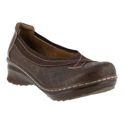 Women's L'Artiste by Spring Step Jute Slip On Brown Leather