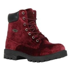Women's Lugz Empire HI VT Work Boot Ruby/Black Velvet