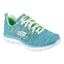 Women's Skechers Flex Appeal 2.0 High Energy Training Shoe Blue/Lime