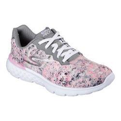 Women's Skechers GOrun 400 Running Shoe Gray/Light Pink