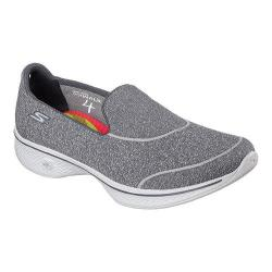 Women's Skechers GOwalk 4 Super Sock 4 Slip On Walking Shoe Charcoal