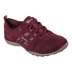 Women's Skechers Relaxed Fit Breathe Easy Good Luck Sneaker Burgundy