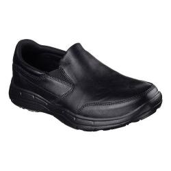 Men's Skechers Relaxed Fit Glides Calculous Slip On Black/Black