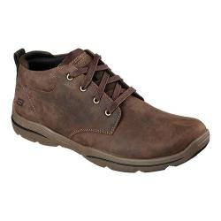 Men's Skechers Relaxed Fit Harper Melden Mid High Top Chocolate