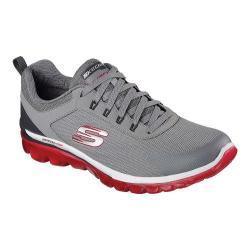 Men's Skechers Skech-Air 2.0 Quick Times Training Shoe Light Gray/Red