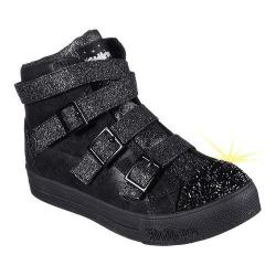 Girls' Skechers Twinkle Toes Step Up Crisscross Craze High Top Black