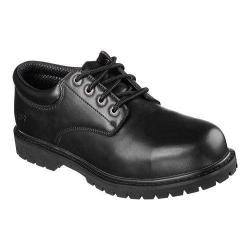 Men's Skechers Work Relaxed Fit Cottonwood Capron Steel Toe Shoe Black
