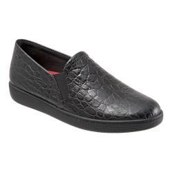 Women's Trotters Americana Slip-On Black Croc