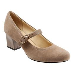Women's Trotters Candice Mary Jane Dark Nude Suede/Patent