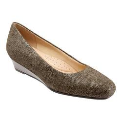 Women's Trotters Lauren Taupe Textured Leather