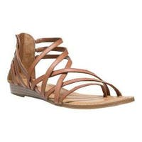 Women's Carlos by Carlos Santana Amara Strappy Sandal Tan Leather