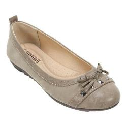 Women's Cliffs by White Mountain Brentwood Ballerina Slip On Stone Burnished Smooth/Textile/Suede