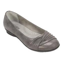 Women's Cliffs by White Mountain Hilt Ballet Flat Pewter Glitter Suede Fabric|https://ak1.ostkcdn.com/images/products/125/978/P19169101.jpg?impolicy=medium