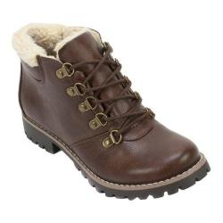 Women's Cliffs by White Mountain Peekaboo Hiker Boot Brown Smooth