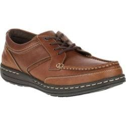 Men's Hush Puppies Vines Victory Moc Toe Shoe Dark Brown Leather