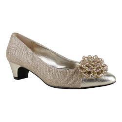 Women's J. Renee Rashana Pump Gold Harlequin Glitter Fabric/Metallic Nappa