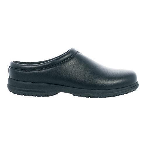 Men's Nunn Bush Solis Slip-Resistant Plain Toe Clog Black Synthetic