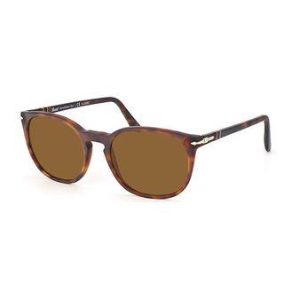 Persol PO3007/S-900157 Round Brown Polarized Sunglasses