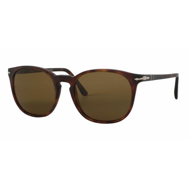 Shop Persol Po3007 S 900157 Round Brown Polarized