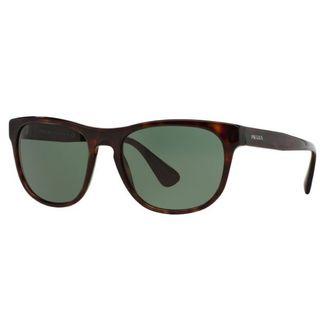 Prada PR14RS-2AU3O1 Square Grey Green Sunglasses