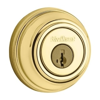 Kwikset Signature Series 99850-055 Polished Brass SmartKey Double Cylinder Deadbolt