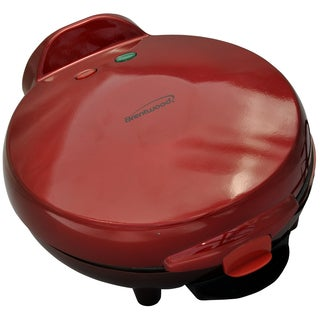 "Brentwood TS-120 9.5"" X 10.5"" X 4.5"" Red Quesadilla Maker"