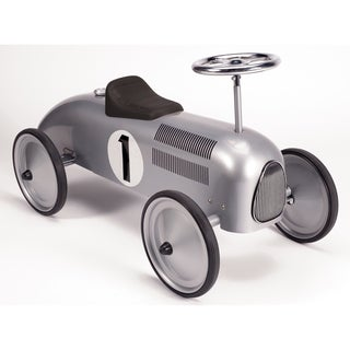 Schylling Speedster Silver Metal Retro Race Ride-On