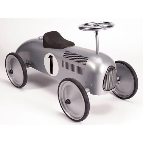 Schylling Speedster Silver Metal Retro Race Ride-On