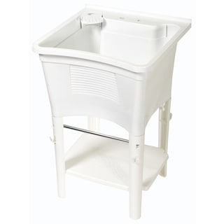 Zenith LT2005W 20 Gallon White Full Featured Ergo Freestanding Tub