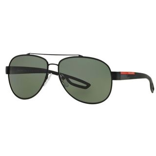Prada Sport PS55QS-DG05X1 Aviator Polarized Green Sunglasses