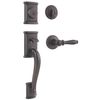 Kwikset 98001-098 Venetian Bronze Ashfield Handleset