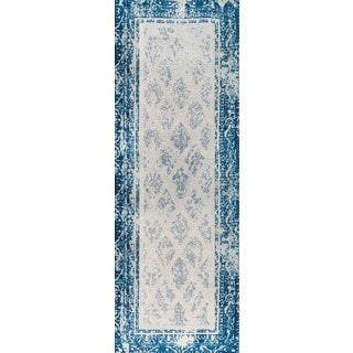 "M.A.Trading Hand-woven Corona Blue (2'6""x8')"