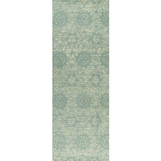 "M.A.Trading Hand-woven Baltimore Light Blue (2'6""x8')"