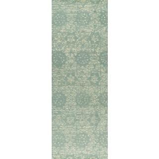 "M.A.Trading Hand-woven Baltimore Light Blue (2'6""x8')"