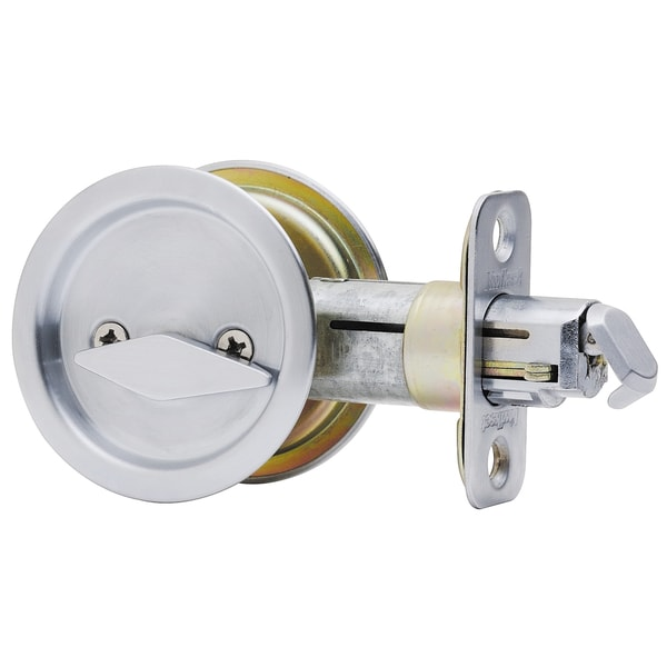Kwikset 93350 024 Satin Nickel Pocket Door Privacy Lock