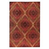 Handmade M.A.Trading Lansing Red/Multi (India) - 8' x 10'