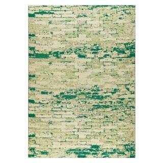M.A.Trading Hand-woven Fargo White/Green (8'x10')