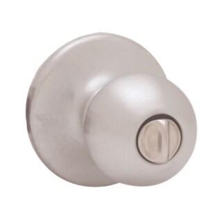 Kwikset 93001-499 Satin Chrome Polo Knob Privacy Set