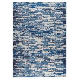 M.A.Trading Hand-woven Fargo Blue (8'x10')