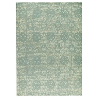 M.A.Trading Hand-woven Baltimore Light Blue (9'x12')