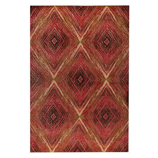 M.A.Trading Hand-woven Lansing Red/Multi (5'x8')