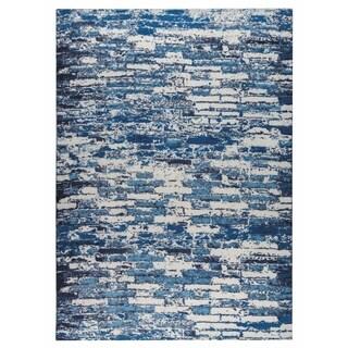M.A.Trading Hand-woven Fargo Blue (5'x8')