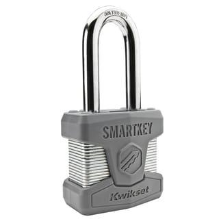 Kwikset 90260-002 SmartKey Padlock Long Shackle